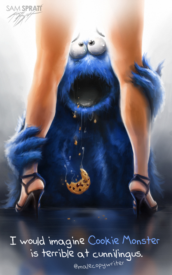 Cookie Monster Cunnilingus Illustration Meme Lexi Sylver Sex Advice Blog