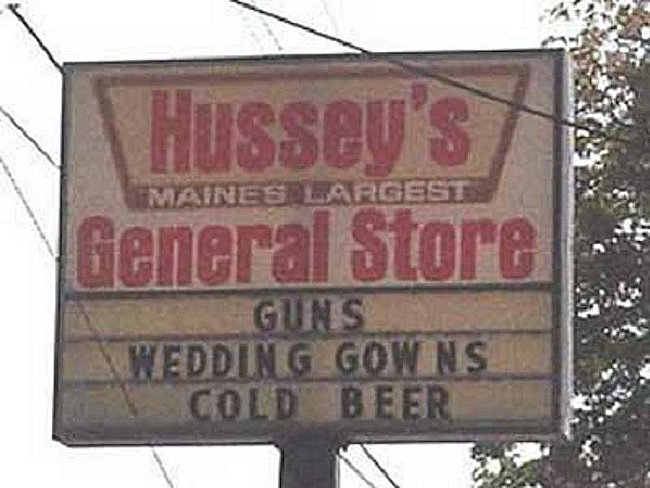 Shotgun wedding | Funny signs