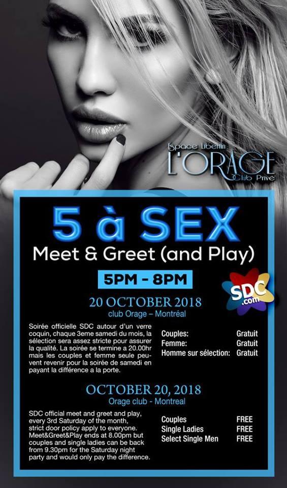 5à Sex SDC Meet and Greet L'Orage Club