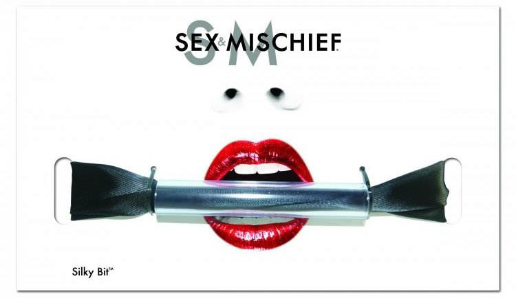Silky Bit Mouth Gag by Sex & Mischief, available at LexiSylver.com